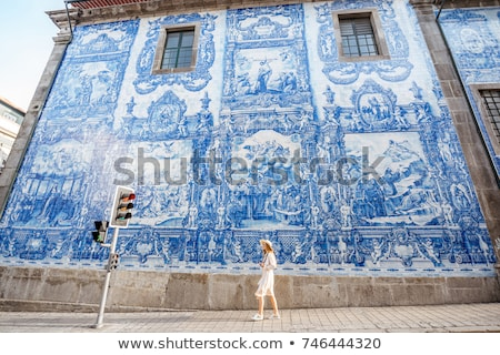 azulejos traditional tiles in porto portugal Stock photo © travelphotography