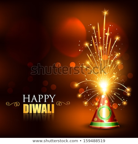 beautiful glowing celebration diwali crackers festival backgroun stock photo © bharat