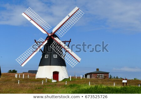 Molino de viento isla mar parque Dinamarca paisaje Foto stock © faabi