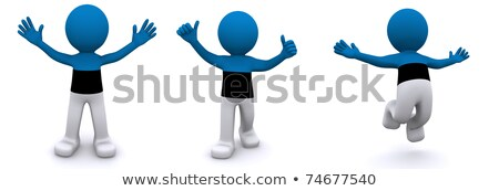 3d character textured with flag of Estonia Stock photo © Kirill_M