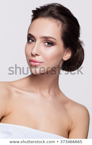 Portrait of gorgeous brunette lady. Stock photo © PawelSierakowski
