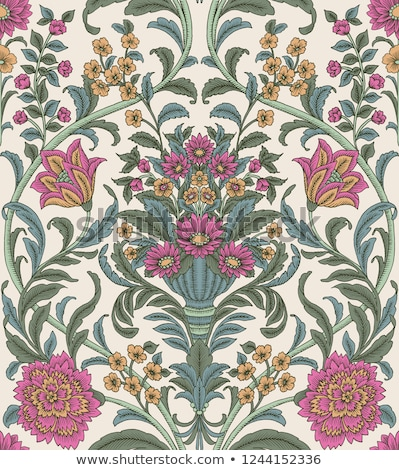 seamless floral paisley ornament pattern  Stock photo © creative_stock