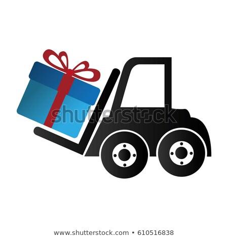 heftruck · geschenkdoos · eps · verjaardag · vak · schip - stockfoto © digitalmojito