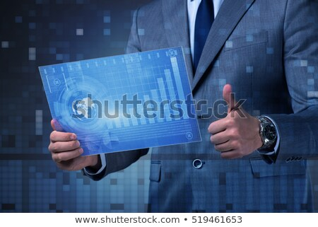 Businessman graph up Stock photo © ratch0013