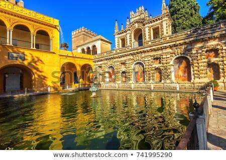 Fountain Pavilion Garden Alcazar Royal Palace Seville Spain Stock photo © billperry