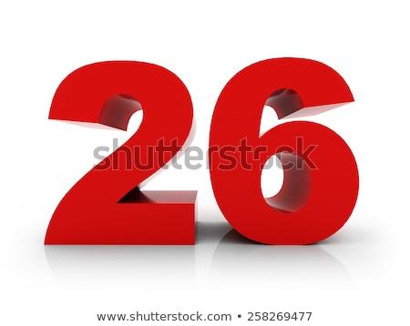 Rosso numero 26 riflessione bianco design Foto d'archivio © Zerbor