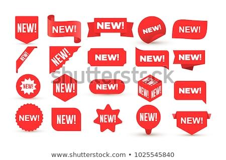 красный торговых тег слово новых интернет Сток-фото © phyZick