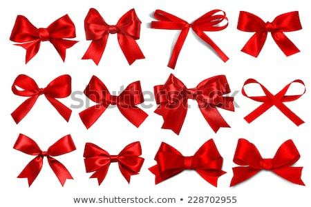 Conjunto natal vermelho arco isolado branco Foto stock © impresja26
