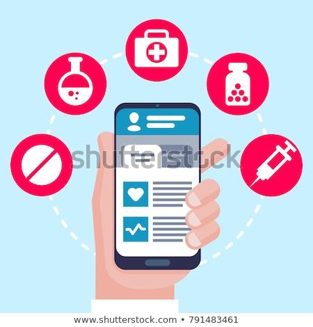 Doktorlar çevrimiçi danışma form eps dosya Stok fotoğraf © Voysla
