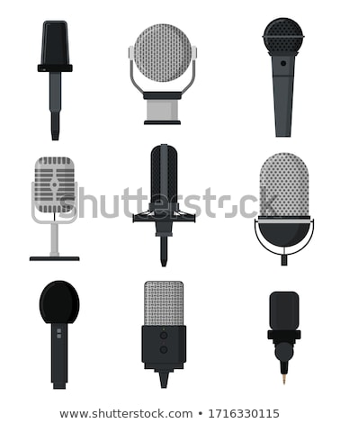 mikrofon · ayarlamak · bir · iki · dinamik · yalıtılmış - stok fotoğraf © diabluses