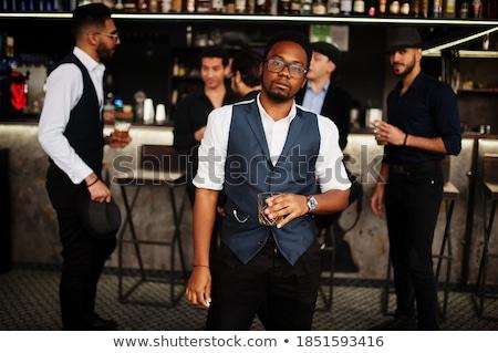 африканских Америки Gangster рубашку галстук Сток-фото © jeffbanke