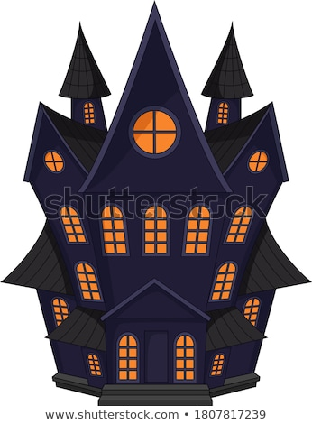 Old witch castle, vector illustration  Stock photo © carodi