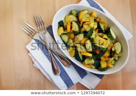 Zucchini con Salvia Stock photo © fanfo