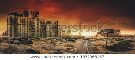Harc naplemente illusztráció művészet háború sziluett Stock fotó © adrenalina