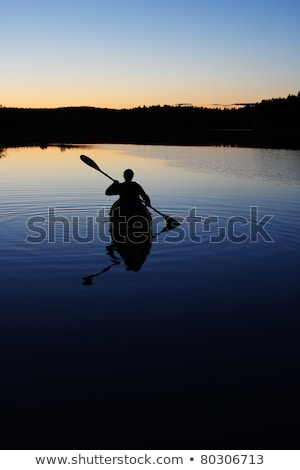 Canoes in for the Night Stock photo © wildnerdpix