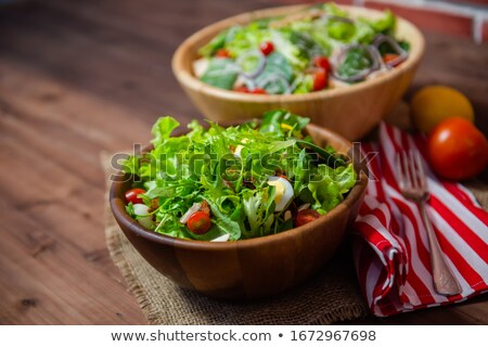 healthy herb drinks serving on wood table stock photo © nalinratphi