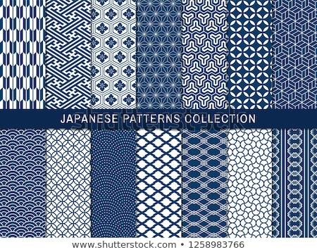 Sem costura japonês padrão conjunto padrões vetor Foto stock © beaubelle