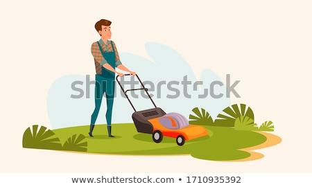 Lawnmower illustration Stock photo © tiKkraf69