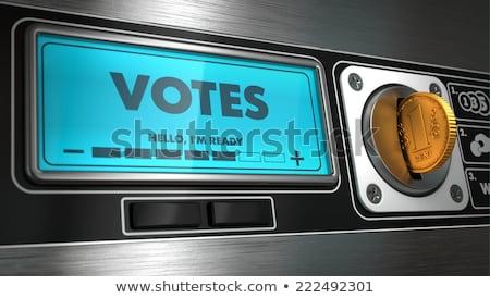 Göstermek otomat iş soru makine Stok fotoğraf © tashatuvango