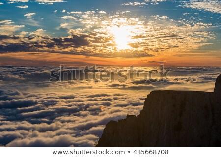 Mountains under mist Stock photo © hraska