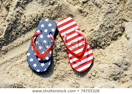 USA vlag thong meisje mode lichaam Stockfoto © lindwa