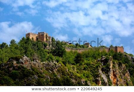 zamek · skał · plaży · Turcja · charakter · krajobraz - zdjęcia stock © wjarek