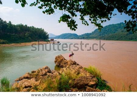 Landschap Laos land huis Stockfoto © prill