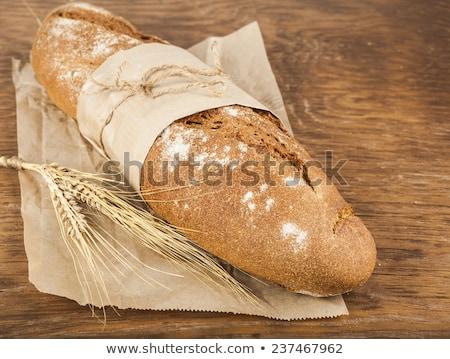 長い ローフ 紙 包装 耳 小麦 ストックフォト © OleksandrO