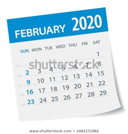 календаря пустая страница бумаги спиральных графика Сток-фото © stevanovicigor