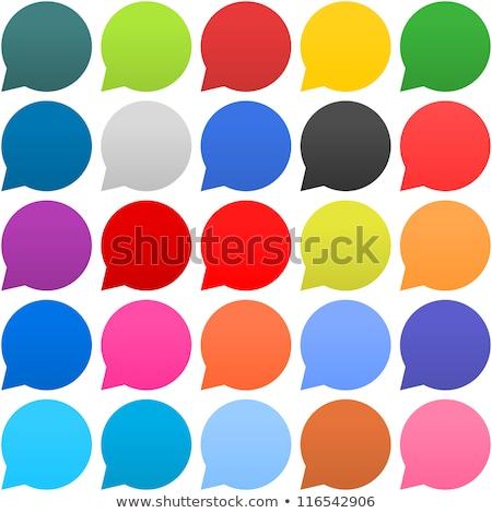 Bericht vector paars web icon knop Stockfoto © rizwanali3d