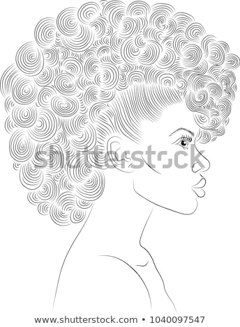 Portrait of Extravagant Female with Curly Hairs Stock photo © gromovataya
