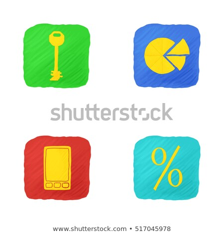 Office themed squared app icon set Stock photo © Anna_leni
