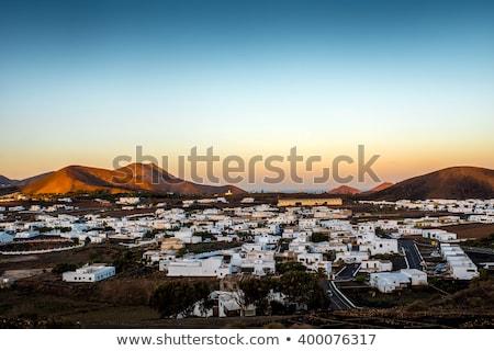 Pittoresque village sunrise Espagne nature fond Photo stock © meinzahn