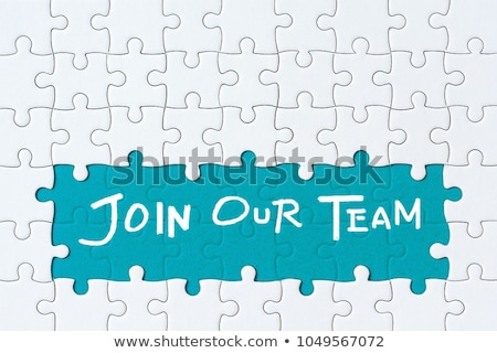 Job - Text on Blue Puzzles. Stock photo © tashatuvango