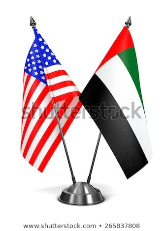 USA and United Arab Emirates - Miniature Flags. Stock photo © tashatuvango