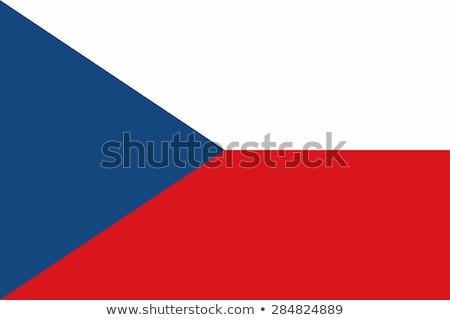 Banderą czech wykonany ręcznie placu streszczenie Zdjęcia stock © k49red