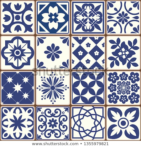 Blue and White tiles stock photo © Luisapuccini