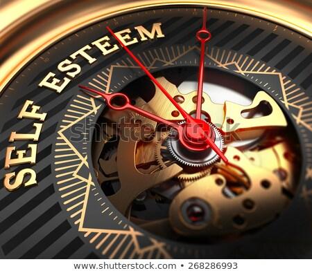 Auto-estima ver cara mecanismo quadro completo Foto stock © tashatuvango