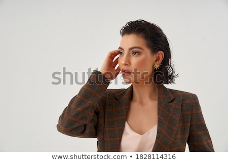 Attractive wet brunette stock photo © acidgrey