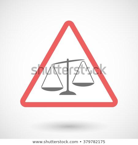 Inequality on Warning Road Sign. Stock photo © tashatuvango