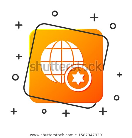 orange button with the image maps of kenya stock photo © mayboro