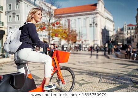 Lányok bicikli turné élvezi nő lány Stock fotó © JanPietruszka