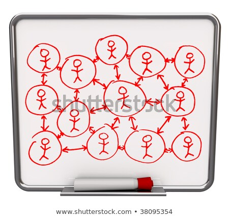 Dry Erase Message Board Red Marker Communication Information Stock photo © iqoncept