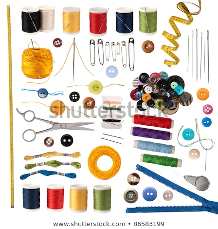 Threads with buttons and tape Stock photo © bendzhik