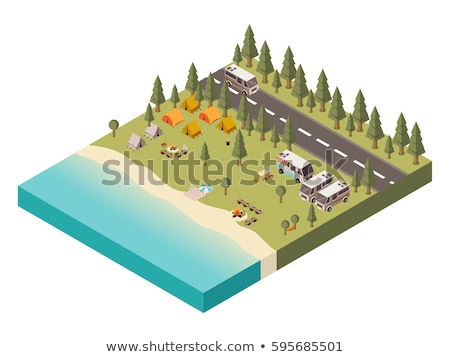Isometric forest camping stock photo © teerawit