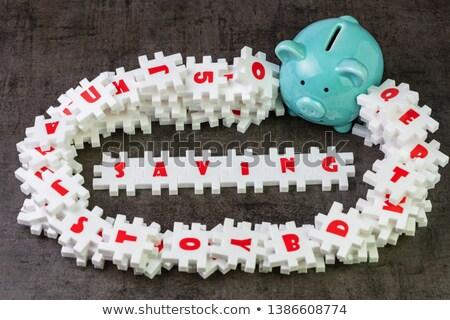 Dépôt blanche mot bleu 3d illustration affaires Photo stock © tashatuvango