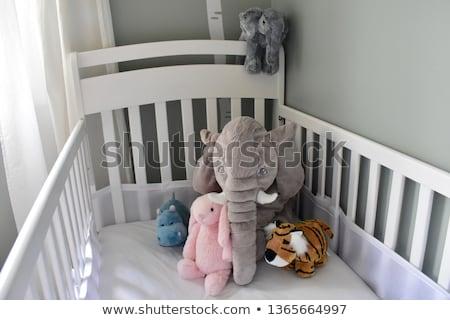 Menina berço ilustração bebê grama jovem Foto stock © adrenalina