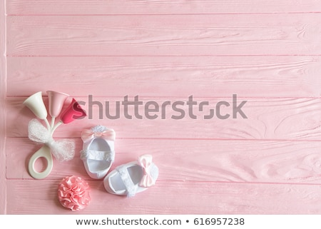 baby girl with rattle stock photo © mikko