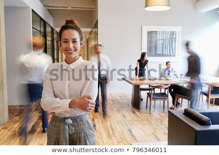 実業 オフィス 小さな チーム かなり コンピュータ ストックフォト © Aikon