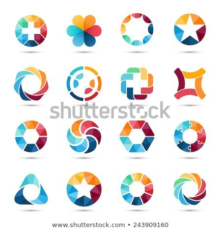 Estrellas colorido círculo vector icono diseno Foto stock © blaskorizov